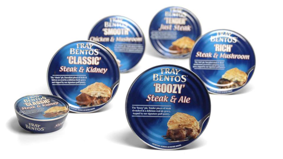 Fray Bentos packaging redesign
