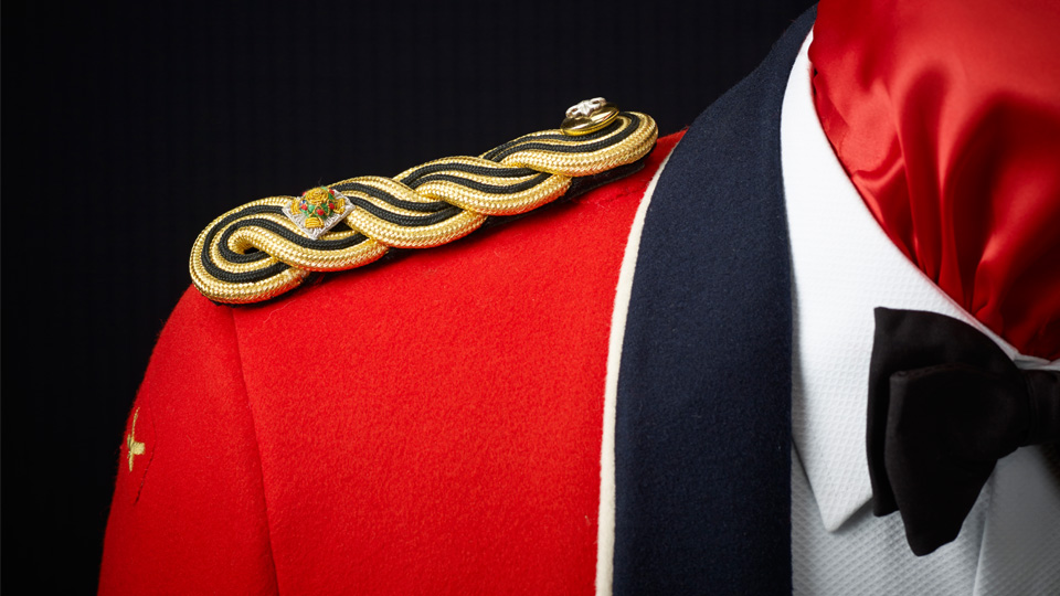 Golding Tailors military suit photography