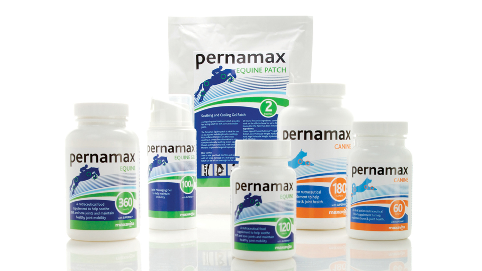 Pernamax, animal health pharmaceuticals. Cambridge design agency, Cambridge photography, illustration, typography, Cambridge print, design, packaging, photography, advertising, printed materials, website design, 3D animation.
