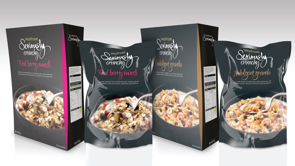 Waitrose muesli and granola range concepts.