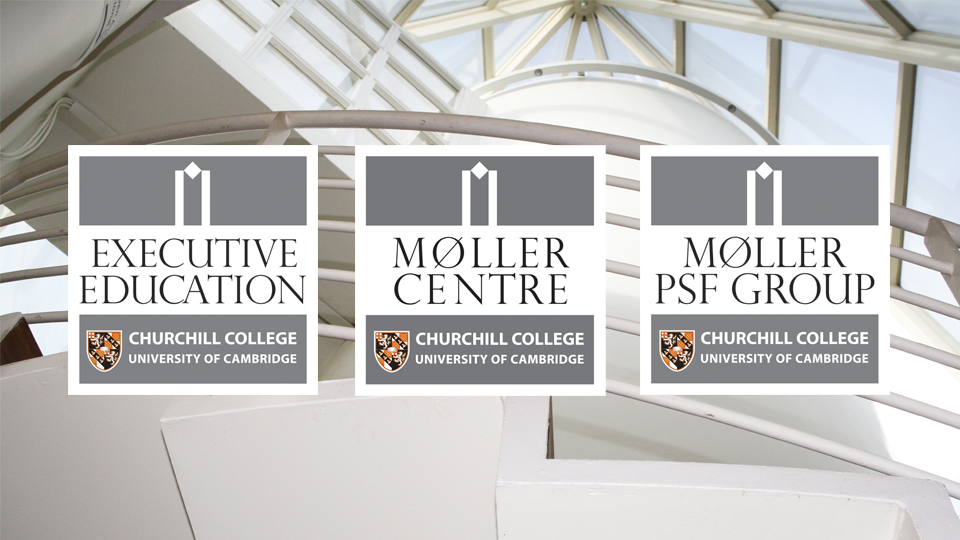 The Moller Centre (Møller), Executive Education and PSF Group. Cambridge design agency, Cambridge photography, illustration, typography, Cambridge print, design, packaging, photography, advertising, printed materials, website design, 3D animation.