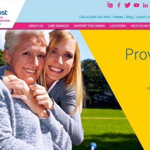 Website design for Carers Trust Cambridgeshire
